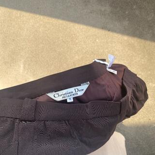 クリスチャンディオール(Christian Dior)のChristian Dior ブラウンスカート80年代 古着 ヴィンテージ(ひざ丈スカート)