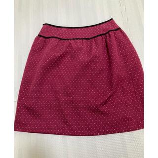 プーラフリーム(pour la frime)のドット 濃いピンク スカート(ひざ丈スカート)
