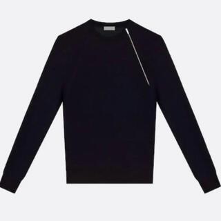 ディオールオム(DIOR HOMME)の【定価13万】Dior Homme Zip クルーネックニット(ニット/セーター)