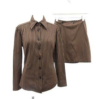 フェンディ(FENDI)のフェンディ セットアップ ペカン柄 シャツ ラップスカート リバーシブル I40(シャツ/ブラウス(長袖/七分))
