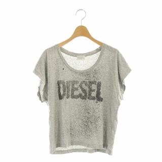 ディーゼル(DIESEL)のディーゼル Tシャツ カットソー 半袖 ロゴ ラメ XS グレー /DF ■EC(カットソー(半袖/袖なし))