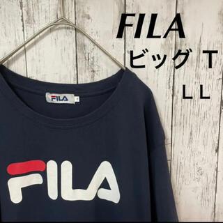 フィラ(FILA)のFILA ビッグ Tシャツ ロゴ 半袖 古着(Tシャツ/カットソー(半袖/袖なし))