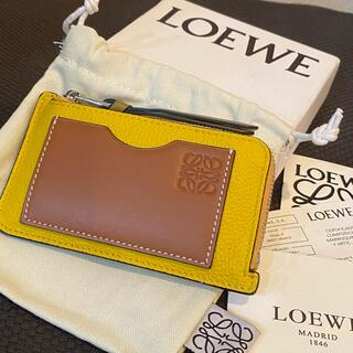 LOEWE - 新品未使用 イエロー ロエベ LOEWE カードホルダー コインケース 財布