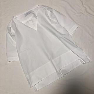 イエナスローブ(IENA SLOBE)のSLOBE IENA 白シャツ シンプル ブラウス F(シャツ/ブラウス(半袖/袖なし))