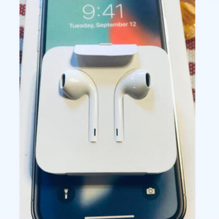 アップル(Apple)の新品 アップル 純正 イヤホン ライニングタイプ iPhone X 付属品(ヘッドフォン/イヤフォン)