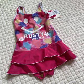 ラスティ(RUSTY)のラスティピンク水着サイズ100(水着)