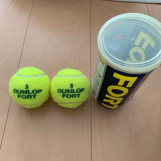 ダンロップ(DUNLOP)のダンロップフォート テニスボール 2個 3番(ボール)
