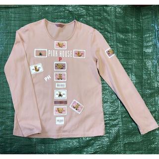 ピンクハウス(PINK HOUSE)のピンクハウス ワッペンいっぱい長袖Tシャツ ピンク ロンT カットソー(Tシャツ(長袖/七分))
