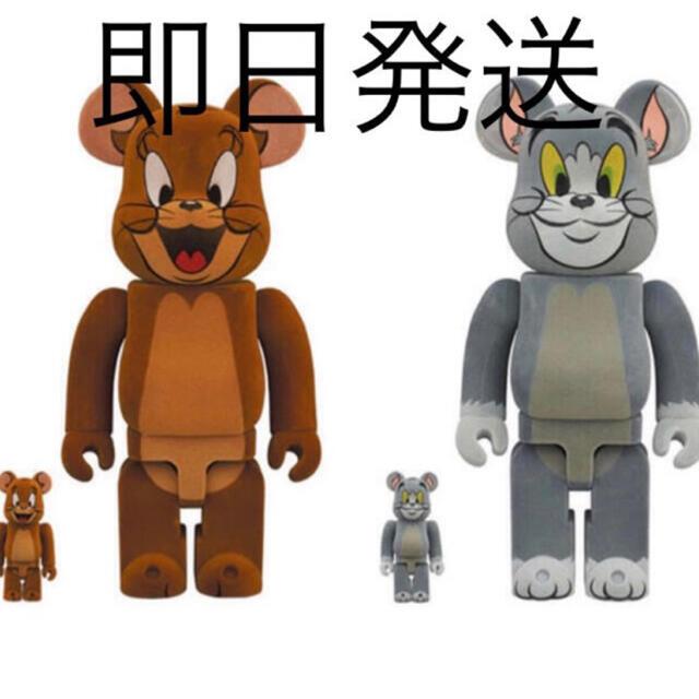 MEDICOM TOY(メディコムトイ)のBE@RBRICK TOM AND JERRY フロッキー 100%&400%  エンタメ/ホビーのおもちゃ/ぬいぐるみ(キャラクターグッズ)の商品写真