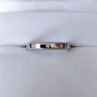 ヴァンドームアオヤマ(Vendome Aoyama)のヴァンドーム青山 ダイヤモンド ミル打ち ミル グラニュール リング Pt950(リング(指輪))