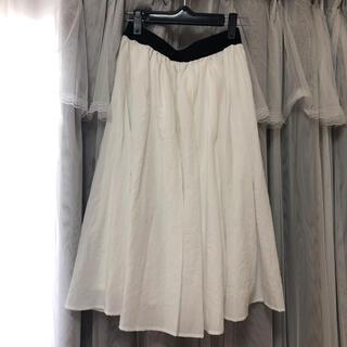 フェリシモ(FELISSIMO)の白 ロングスカート(ロングスカート)