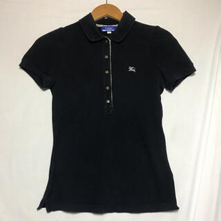バーバリーブルーレーベル(BURBERRY BLUE LABEL)のバーバリーブルーレーベル 黒 ノバチェック ポロシャツ(ポロシャツ)