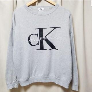 カルバンクライン(Calvin Klein)の90s ビンテージ カルバンクライン トレーナー 90'S CK デカロゴ(トレーナー/スウェット)