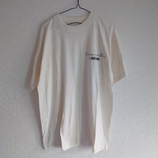 モスキーノ(MOSCHINO)のチープ&シック モスキーノ ロゴ Tシャツ イタリア製 クリーム色(Tシャツ/カットソー(半袖/袖なし))