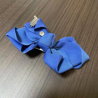 ランバンオンブルー(LANVIN en Bleu)の【ともりん様】ランバン ヘアクリップ 髪留め 青 ブルー(バレッタ/ヘアクリップ)