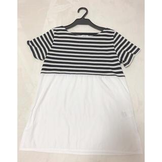 グローバルワーク(GLOBAL WORK)のKOE ボーダー Tシャツ チュニック(Tシャツ(半袖/袖なし))