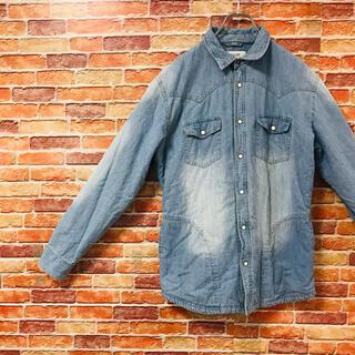 ベイフロー(BAYFLOW)のベイフロー BAYFLOW デニムシャツ Lサイズ 内側ボア インディゴカラー(シャツ)