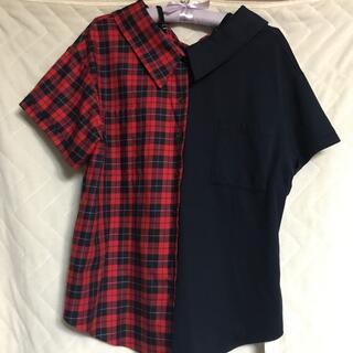 スコットクラブ(SCOT CLUB)の新品 スコットクラブ チェックブラウス(シャツ/ブラウス(半袖/袖なし))