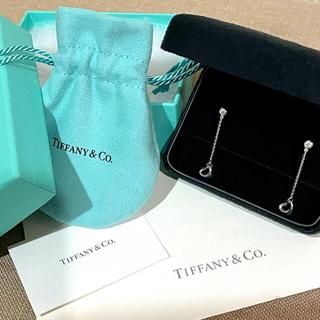 ティファニー(Tiffany & Co.)の新品同様ティファニーのAG925バイザヤードドロップオープンハートピアス(ピアス)