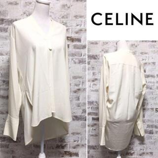 セリーヌ(celine)のCELINE ブラウス アイボリー シルク100% フィービー期 大きいサイズ(シャツ/ブラウス(長袖/七分))
