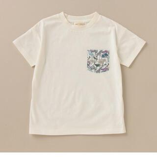 センスオブワンダー(sense of wonder)のsense of wonder子供リバティポケット半袖Tシャツ(Tシャツ/カットソー)