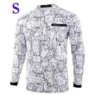 サイクルウェア・モトクロスウェア ネコ 猫 長袖 シャツ ジャージ  Sサイズ