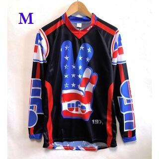 (新品)サイクルウェア・モトクロスウェア 黒 長袖 シャツ ジャージ Mサイズ