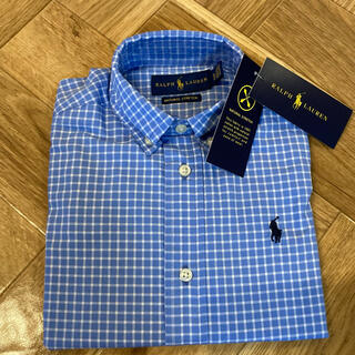ポロラルフローレン(POLO RALPH LAUREN)の新品100ラルフローレン チェックシャツ キッズ ベビー ポロベア(ブラウス)