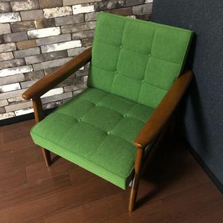 カリモク家具 - カリモク60 Kチェア 1シーター タープグリーン 廃盤カラー 美品カリモク60