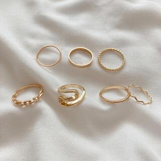 カスタネ(Kastane)のゴールド デザインリングセットA(リング(指輪))