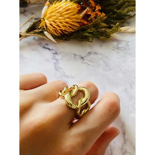 アリシアスタン(ALEXIA STAM)の◇シンプル チェーン ゴールド リング◇12号(リング(指輪))