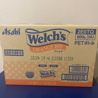 アサヒ(アサヒ)のウェルチ 100%オレンジジュース8本 果汁100% アサヒ(ソフトドリンク)