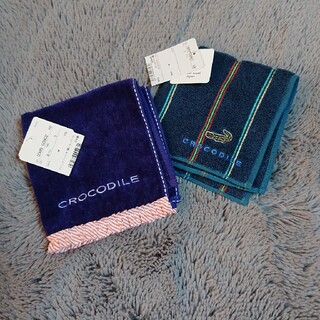 クロコダイル(Crocodile)の★クロコダイル🐊★タオルハンカチ♪お値下げしました❇️(ハンカチ/ポケットチーフ)