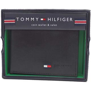 TOMMY HILFIGER - 【新品】TOMMY HILFIGER(トミーヒルフィガー) 財布 二つ折り黒