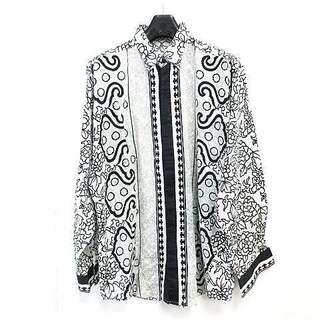 ジャンニヴェルサーチ(Gianni Versace)のジャンニヴェルサーチ シャツ 長袖 ヴィンテージ 花柄 総柄 コットン 48(シャツ)