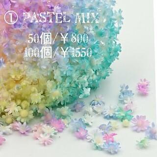 No.①  『パステルMIX』スターフラワーミニ☆レジン   花材(ドライフラワー)