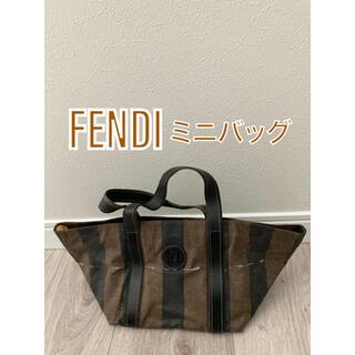 フェンディ(FENDI)の FENDI フェンディ ペカン柄 PVC×レザー ミニバッグ (ハンドバッグ)