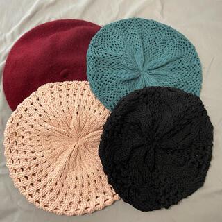 ユニクロ(UNIQLO)の【セット】ベレー帽4点、秋冬、帽子(ハンチング/ベレー帽)