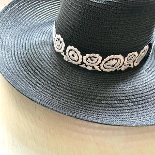 クリスチャンディオール(Christian Dior)のクリスチャンディオール 麦わら帽子 ストローハット(麦わら帽子/ストローハット)