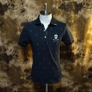 マークアンドロナ(MARK&LONA)のレア!!(定価30800) マークアンドロナ・マルチスカル刺繍ポロシャツ(ポロシャツ)