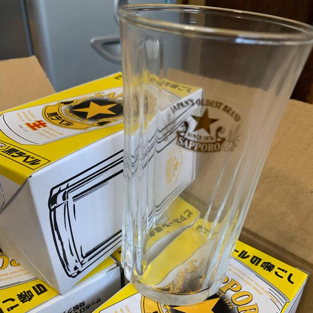 サッポロ(サッポロ)のサッポロ黒ラベル ビールグラス10個セット インテリア/住まい/日用品のキッチン/食器(グラス/カップ)の商品写真