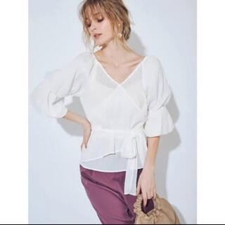 マーキュリーデュオ(MERCURYDUO)の新品 楊柳デザインスリーブシャツ(シャツ/ブラウス(半袖/袖なし))