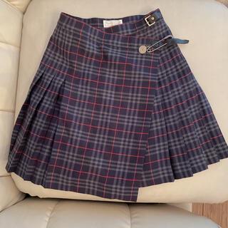 バーバリー(BURBERRY)のバーバリー プリーツ 巻きスカート 制服 チェック(ミニスカート)