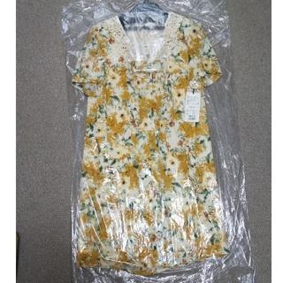 アールディールージュディアマン(RD Rouge Diamant)の新品タグ付き ルージュディアマン 花柄ワンピース(ひざ丈ワンピース)