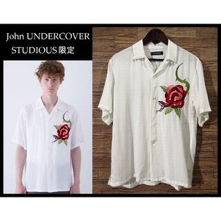 アンダーカバー(UNDERCOVER)のジョン アンダーカバー 限定 17SS スネーク刺繍 オープンカラー シャツ L(シャツ)