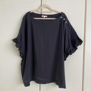 スタディオクリップ(STUDIO CLIP)の綿麻フリル袖プルオーバー(カットソー(半袖/袖なし))