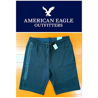 アメリカンイーグル(American Eagle)の【新品】アメリカンイーグル★ショートパンツ★Sサイズ★ブラック(ショートパンツ)