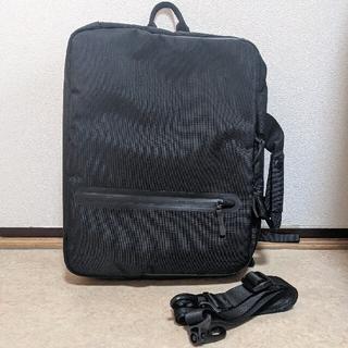 ユニクロ(UNIQLO)のユニクロ 3way リュック ショルダー 斜めがけ 手持ち ビジネス 黒(バッグパック/リュック)
