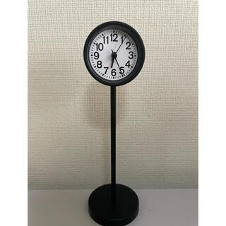 ムジルシリョウヒン(MUJI (無印良品))の無印 時計 ブラック(置時計)