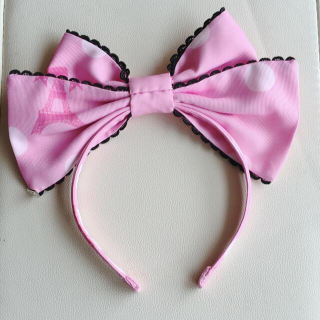 Angelic Pretty(アンジェリックプリティー)のFantasic Dolly  カチューシャ ピンク レディースのヘアアクセサリー(カチューシャ)の商品写真